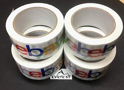 4 ROLL Official GENUINE AUTHENTIC  eBay Brand Logo Packaging Tape BOPP Shipping