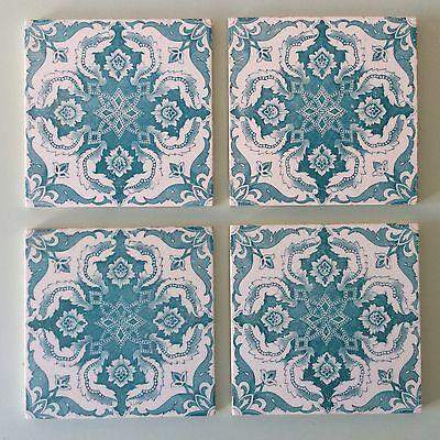 Antique Silk Screen printed Victorian tile Vintage #839