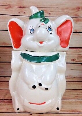 Walt Disney Dumbo Turnabout Vintage Leeds Cookie Jar 1940s 4 in 1
