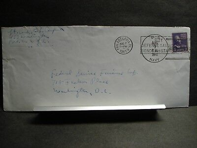 USS WASHINGTON BB-56 Navy Cover 1941 pre WWII Sailor's Mail