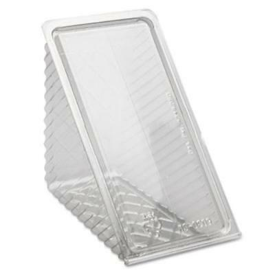 Pactive PACY11334 Hinged Lid Sandwich Wedges, Plastic, Clear, 6 1/2 X 3 X 3 1/4,