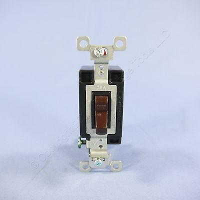 Bryant Brown COMMERCIAL Grade Toggle Wall Light Switch Single Pole 20A CSB120B