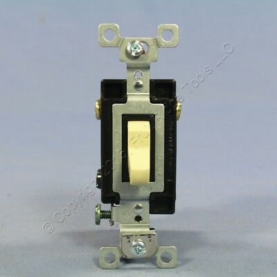 New Bryant Ivory COMMERCIAL Grade 4-Way Toggle Wall Light Switch 20A CSB420-BI