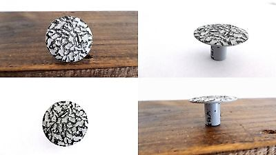 TWO Distressed Gray Grey Cabinet Knobs Drawer Door Handles Pulls Farmhouse Beach