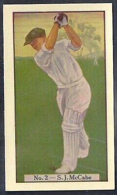 Allen (Australia)-Cricket (Coloured) 1938-#02- New South Wales - Mccabe