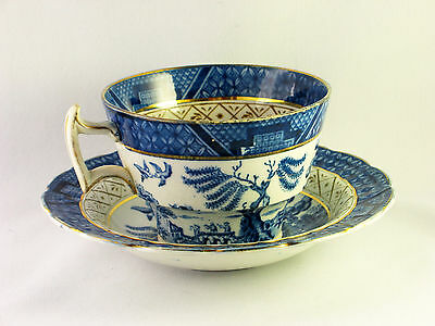 2 sets of cups & Saucers Vintage Booths Old Willow Pattern China 73