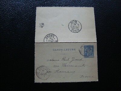 FRANCE - carte-lettre entier 1891 (B13) french