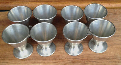 8 Solid Pewter Cups - Vintage/Antique, late 1800s? - great for your collection!