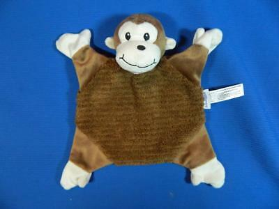Babies R Us Brown Tan Monkey Small Lovey Security Blanket Crinkles ~EXCELLENT
