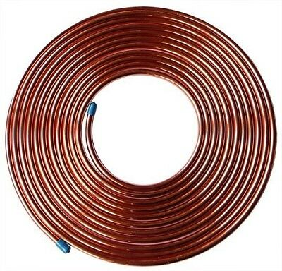 CTMC08 Copper Tube Annealed Soft 10M Coil Tube OD 8mm / ID 6.4mm 1324psi