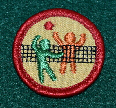 WORLDS TO EXPLORE EXPLORING FOODS GIRL SCOUT BADGE RED PRE 1990