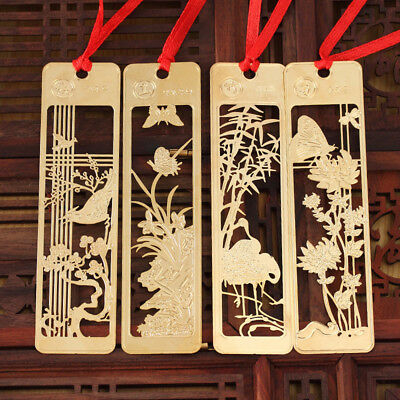 Chinese Style Elegant Metal Flowers Bookmarks For Gift Present Souvenirs Gifts