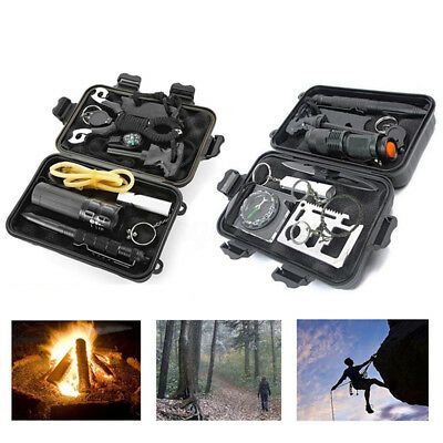 Emergency Survival Equipment Kit Sports Outdoor Tactical Hiking Camping Tool Set