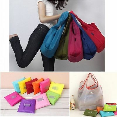 5PCS Grocery Bags Foldable Friendly Reusable Eco Storage Travel Shopping Tote