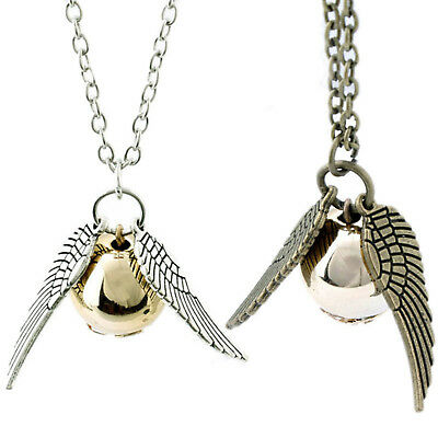 Harry Potter Golden Snitch Angle Wings Silver Bronze Jewellery Birthday Kid Gift