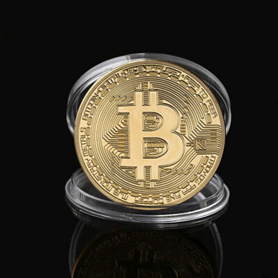 BTC Gold Plated Bitcoin Coin Collectible Gift Coin Art Collection Physical 100X