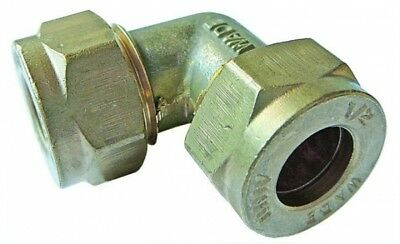 WA-2011 Wade Brass Equal Elbow Tube OD 1/2""