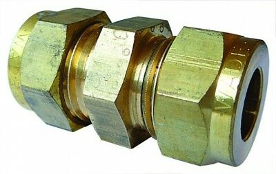 WA-1041 Wade Brass Equal Ended Coupling Tube OD 3/16""