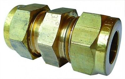 WA-1045 Wade Brass Equal Ended Coupling Tube OD 5/16""