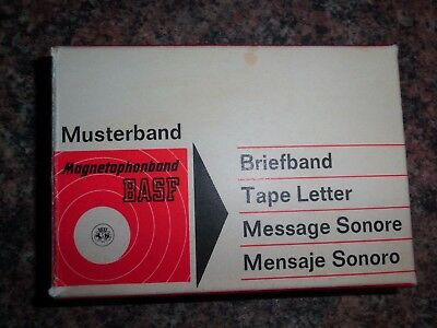 BASF Magnetophonband Musterband ca. 1967 Briefband Tape Letter aus Nachlass RAR