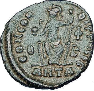 GRATIAN Original 378AD Antioch Authentic Ancient Roman Coin Rome as Roma i65919