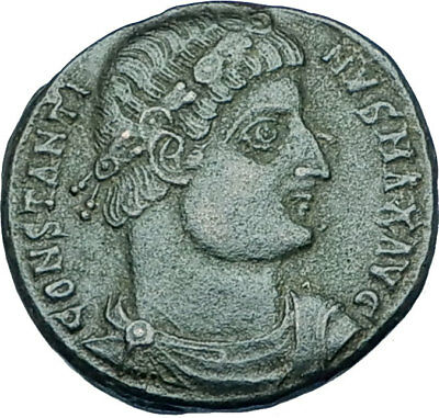 CONSTANTINE I the GREAT 330AD Authentic Ancient Roman Coin w SOLDIERS i65924