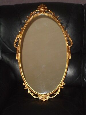 Vintage French Rococo Style Mirror Large Gold Coloured Frame Ornate Beautiful