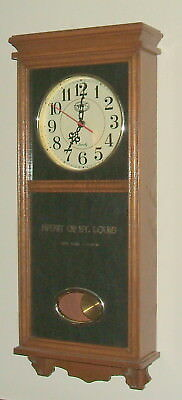 Spirit of St. Louis Oak Wall Clock, Nostalgic in Appearance, Everything Works!