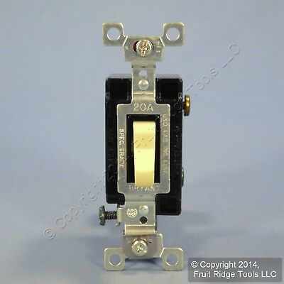 New Bryant Ivory 3-Way COMMERCIAL Grade Toggle Wall Light Switch 20A CS320-BI