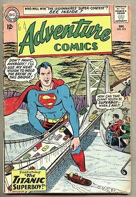 Adventure Comics #315-1963 gd/vg Legion Of Super-Heroes Superboy Curt Swan