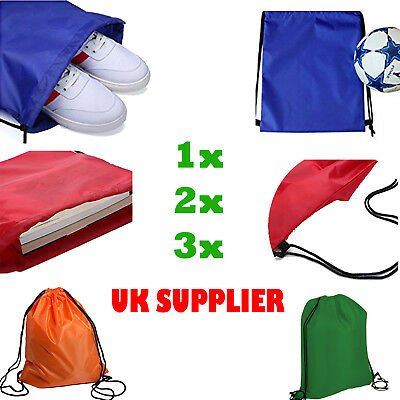 Gym Sack Bag Drawstring gym Outdoor Sports Backpack PE School Swim Shoe sack new