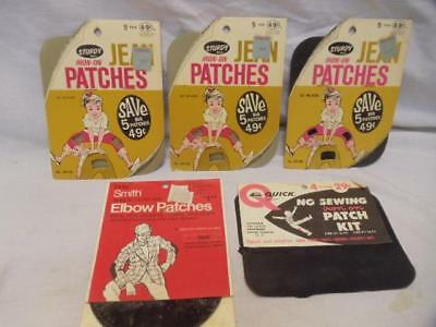 Vintage LOT of 18 Iron On Elbow Knee Patches NO Sewing
