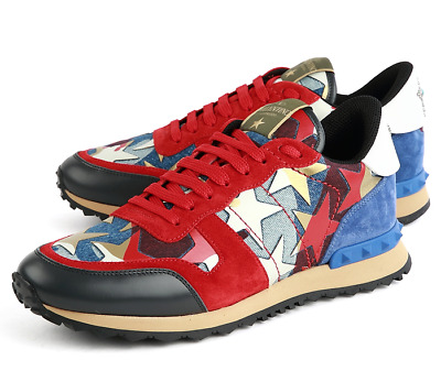 89146a13129d5 Valentino Garavani Rockstud Sneakers Red NY2S0723 DNL 343 Authentic Limited