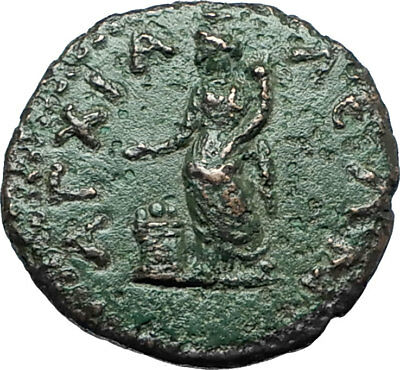 SEPTIMIUS SEVERUS 193AD Anchialus Authentic Ancient Roman Coin TYCHE i66162