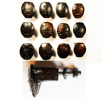 12 Railroad Spike Knobs Door Pull Cupboard Dresser Drawer Antique Vintage Rustic