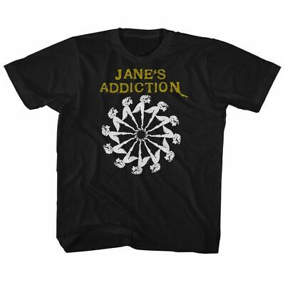 JANES ADDICTION Toddler Boys Kids Short Sleeve T-Shirt BLACK LADY WHEEL