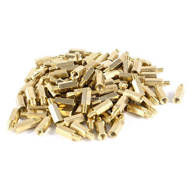 97 Pcs M3 10 + 4 mm PC PCB Motherboard Brass Standoff Hexagonal Spacer Gold Tone