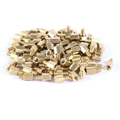100 Pcs PC PCB Motherboard Brass Standoff Hexagonal Spacer M3 6 + 4mm 10mm x 5mm