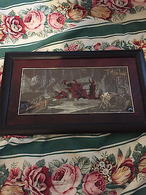 Autographed Spawn HBO Todd Mcfarlane animation cel