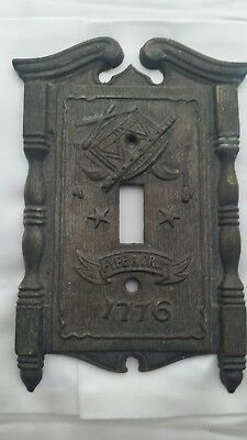 Light Switch Cover American Tack & Hdwe Co 1968 Vintage Revolutionary 1776