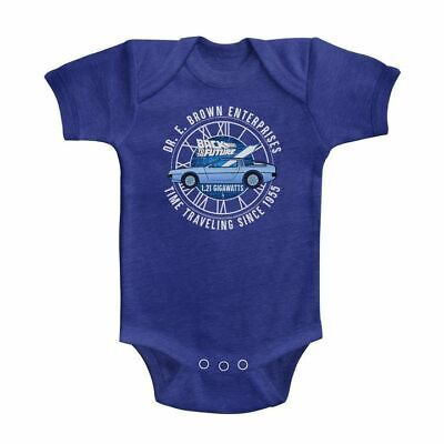 BACK TO THE FUTURE INFANT Baby HEATHER BODYSUIT VINTAGE ROYAL DR E BROWN