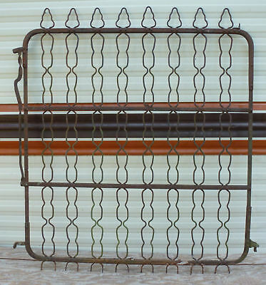 36 x 40 Vintage Iron Fence Gate garden yard entryway chain link finial metal