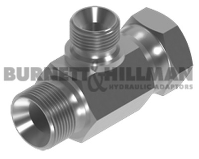 "BSP Male x BSP Swivel Female x BSP Male Branch Tee 3/8"" x 3/8"" x 1/4"" Reducing"