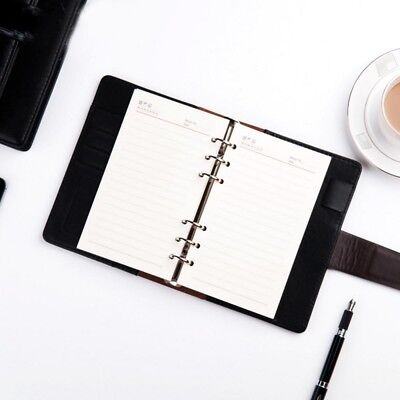 Pu Leather Planner Ring Binder Book Filofax A5 A6 B5 Loose-leaf Spiral Notebooks