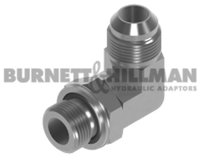 Burnett & Hillman JIC Male x UNF Male 90° Positional Forged Elbow Adaptor