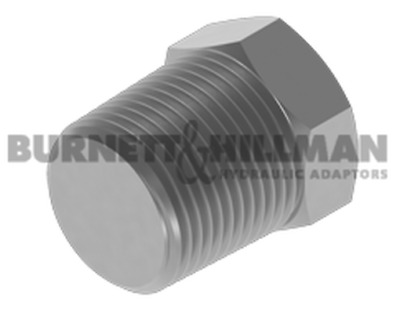 Burnett & Hillman NPTF Solid Plug Hydraulic Fitting