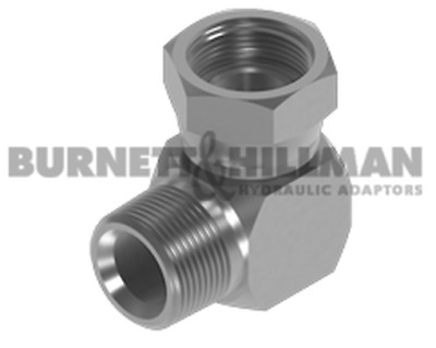 Burnett & Hillman NPTF Male x BSP Swivel Female 90° Compact Elbow Adaptor