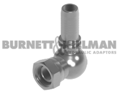 Burnett & Hillman BSP Swivel Female x Hose-tail 90° Compact Hydraulic Fitting
