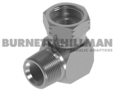 Burnett & Hillman NPTF Male x NPSM Swivel Female 90° Compact Elbow Adaptor
