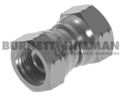 Burnett & Hillman Hydraulic NPSM Swivel Female x NPSM Swivel Female Adaptor |3-8
